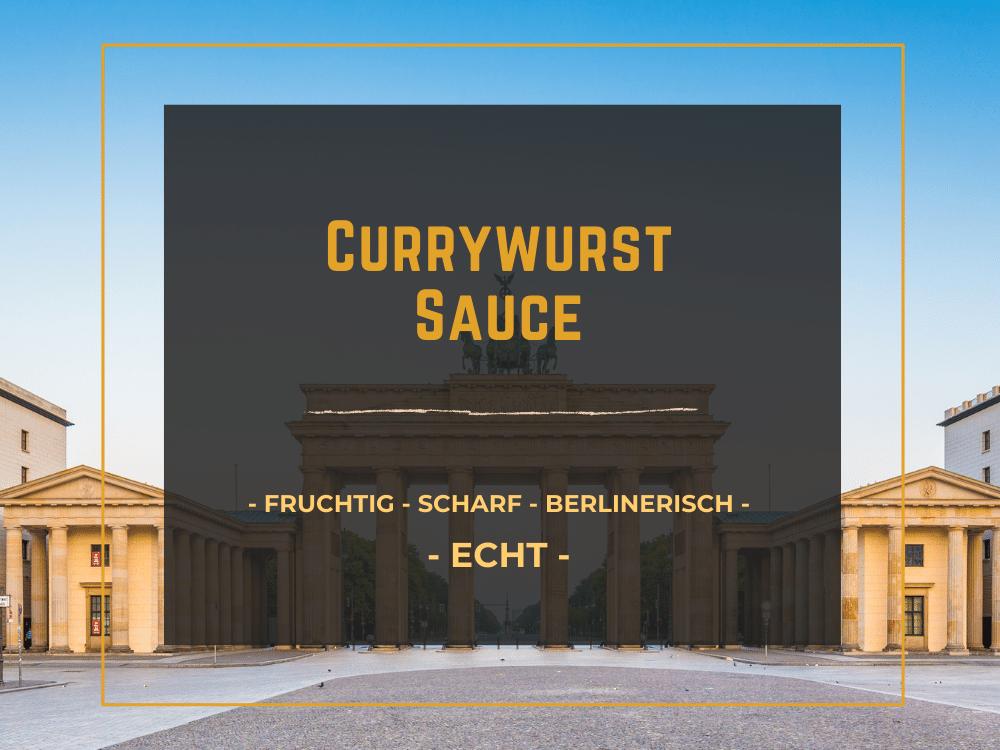 StadtGeschmack Produkt Currywurst Sauce